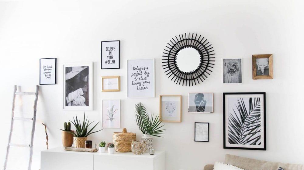 Comment décorer un grand mur du salon ?